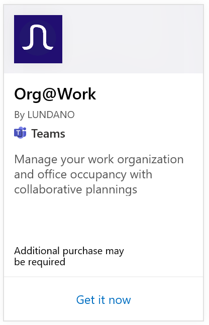 Org@Work disponible dans Microsoft AppSource